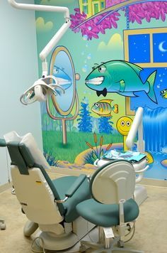 Illustrated murals by Mark C. Collins for children's dentist office. markcollinsillustration.com