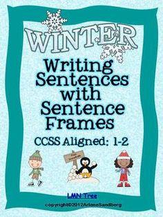 Writing Sentences with Sentence Frames Freebie
