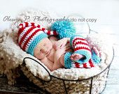 PDF CROCHET PATTERN 013 - Elf long tail hat with tassel or pompom - Multiple sizes from newborn through age 4. $4.95, via Etsy.