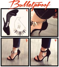 Steve Madden Mag - DIY  Great way to spice up your plain black heels