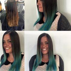 #mermaidhair #hair #haircolor #ombre #beforeandafter #love