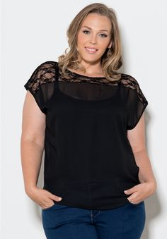 Nikki Chiffon Top From The Plus Size Fashion Community On www.VintageAndCurvy.com