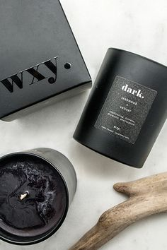 WXY Candles Dark. Teakwood + Vetiver 7oz candle: captivating / intense / dramatic / provocative. | www.wxycandles.com Custom Packaging, Packaging Design, Product Packaging, People Photography, Installation Art, 3d Printing, Presentation, Branding, Concept