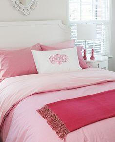 Chambray Magenta and Pink