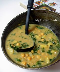 Spinach Chickpea Soup