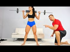 You can build sexy athletic thighs at either the gym or at home. You can use just bodyweight but adding a barbell will help you get even better results. Short Legs Long Torso, Butt Workout, Barbell, Body Weight, Looks Great, Exercises, Thighs, Strong