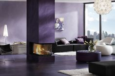 contemporary 3 sided fireplace (wood-burning closed hearth) PANORAMA 51/66/50/66 BRUNNER
