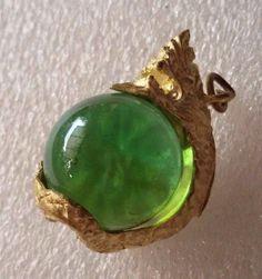 Green Naga Dragon Eyes Ball Rare Thai Buddha amulet talisman pendants Rich Luck