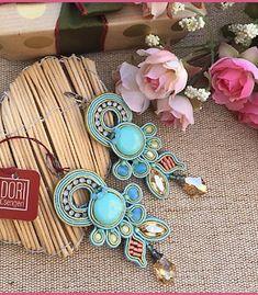 Dori Soutache Necklace, Tassel Earrings, Dory, Beaded Embroidery, Boho Jewelry, Turquoise Bracelet, Jewerly, Beads, My Style