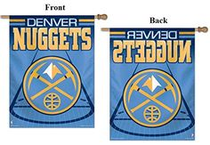 Denver Nuggets Flag 27x37 Vertical House Banner NBA Wincraft Basketball Court Logo Design ** Check out the image by visiting the link.
