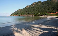 Beautiful beach at Burau Bay Langkawi Island.