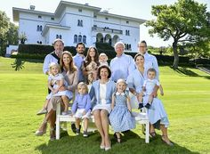 "Swedish Royal Family published a photo taken at the garden of Solliden Palace in Öland where they had their 2017 summer holiday, with the message ""Greetings from Solliden Palace"". The photo shows the family members and was taken by Royal Family Photographer Jonas Ekströmer on July 15 and published on Swedish Royal Website"