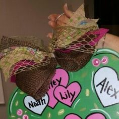 Gorgeous Burlap Bow / wooden door hangers / Craft Night Out located in Historic Downtown Statesville Nc