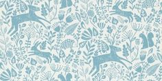 Kelda (111107) - Scion Wallpapers - design featuring a delightful woodland scene in Spring, with various woodland creatures including baby deer, squirrels, hedgehogs and hares!