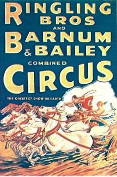 Ringling Bros. and Barnum & Bailey – Chariot Races, Blue Background