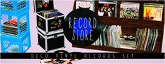 Record Store: Deco Vinyl Records Set http://sims3.modish-kitten.net/tagged/objects