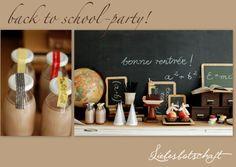 Liebesbotschaft: 1st day of school - table with fleamarket finds