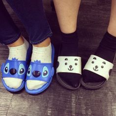 Korean slides!  How fun!! #sandals, #womenssandals, #koreanslippers,