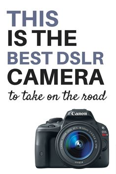 Looking for a compact DSLR camera that's easy to travel with AND creates gorgeous images? Then you need the Canon Rebel SL1, the best DSLR for travelers.