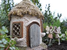 Fairy House Hut exclusively offered by WholesaleFairyGardens.com.