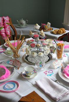 simple princess tea party