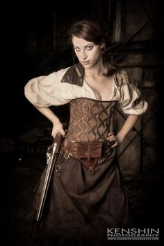 Brown Saloon Girl Skirt...steampunk!