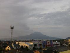 桜島 2012年8月8日 午前6時