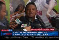 Las Declaraciones De Pedro Martínez A 24 Horas De Ser Exaltado Al Salón De La Fama #Video