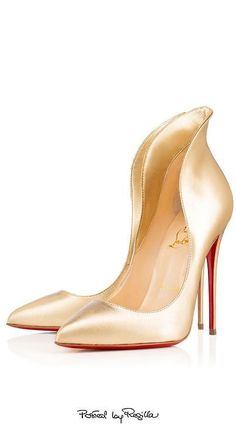 3257bfa423753 The Millionairess of Pennsylvania  Louboutins I love.Regilla ⚜ CL 2015  Obsessed with these gold high heel pumps