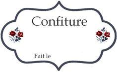 ETIQUETTE POUR CONFITURE MAISON