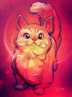 Cat illustration-it looks like Finnegan!