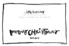 Set of 3  1. Thanksgiving  2. Winter is coming  3. Merry christmas    Elegant hand lettered christmas quotes to purchase. Follow the ling to buy. #ad