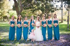<3 the different style teal bridesmaid dresses | CHECK OUT MORE IDEAS AT WEDDINGPINS.NET | #bridesmaids