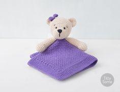 Teddy Bear Lovey Pattern  Security Blanket  Crochet Lovey