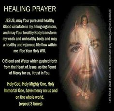 Powerful prayer to Our Merciful Divine Jesus. Prayer Scriptures, Faith Prayer, God Prayer, Power Of Prayer, Prayer Quotes, Faith Quotes, Life Quotes, Spiritual Prayers, Prayers For Healing