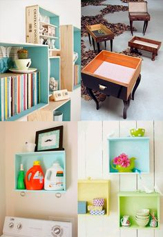 Como reaproveitar gavetas na decoração - dcoracao.com - blog de decoração