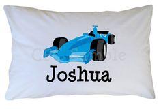 Personalized Race Car Pillow Case Travel