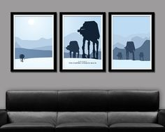 Star Wars Empire Strikes Back Minimalist Movie Poster Set