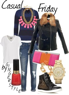 A fashion look from February 2013 featuring pullover sweater, v-neck shirt and biker jackets. Browse and shop related looks. Pullover Sweaters, Fashion Looks, Friday, Casual, Polyvore, Jackets, Shirts, Shopping, Down Jackets
