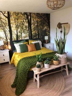 Because the living room is the reception room par excellence, the choice of furniture and decoration is particularly important. Our living room is also a cocoon from which the… Continue Reading → Bedroom Green, Dream Bedroom, Home Bedroom, Bedroom Ideas, Bedroom Designs, Master Bedroom, Earthy Bedroom, Bedroom Inspiration, Green Bedding