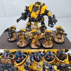 Imperial Fist assault group - Warhammer40k