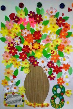 «Роскошный букет для мам на 8 Марта». Коллективная работа. Мастер-класс. Воспитателям детских садов, школьным учителям и педагогам - Маам.ру