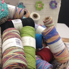 Piles and piles of #hemptiquetwine at #picturetopage show as far as the eye could see (not really actually only one big basket but that doesn't sound nearly as impressive does it?)..... You can just spot the #easypeasyflower in the background @knitpurlhook
