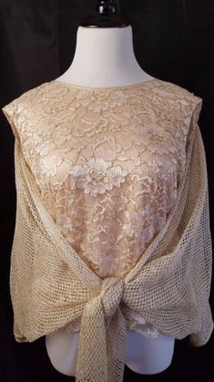 2f38474ef9b Damianou-Occasion-Top-Size-Medium-Beige-Gold-Sparkles-