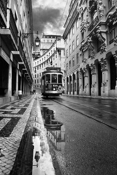 Lisbon by Jorge Maia - City, Street & Park Street Scenes Black And White Picture Wall, Black And White City, Black And White Pictures, Gray Aesthetic, Black Aesthetic Wallpaper, Black And White Aesthetic, Foto Art, Wassily Kandinsky, Gustav Klimt
