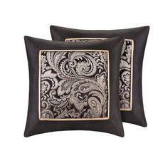 Madison Park Wellington Jacquard Square 20-inch Throw Pillow (Set of 2)