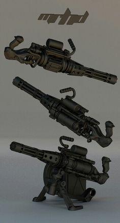 Gatling gun by mrhd