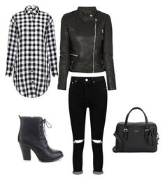"""""""Classy Rocker"""" by melissarodrigues23 ❤ liked on Polyvore featuring IRO, Kate Spade, Refresh and Boohoo"""
