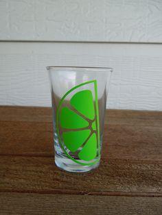 Lime Wedge Shot Glass. $5.00, via Etsy.