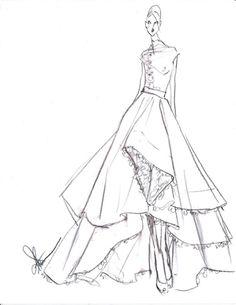 9 best wedding dress images alon livne wedding dresses bridal 1800s Bridal Gowns design martinique sketch inspirations by rita vinieris love notes wedding blog wedding dress